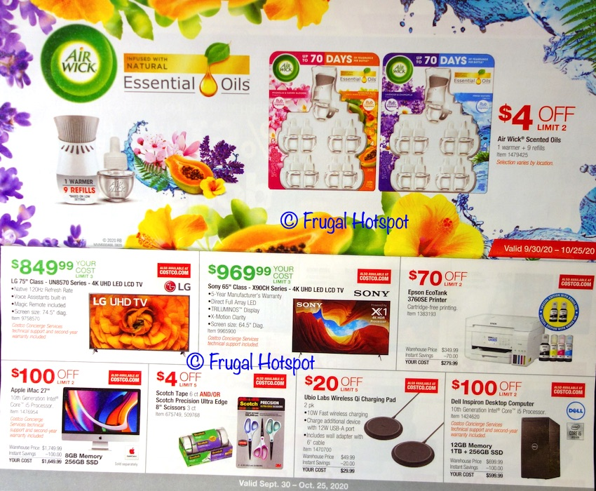 Costco OCTOBER 2020 Coupon Book | Page 4