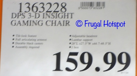 DPS 3D Insight Gaming Chair | Costco price
