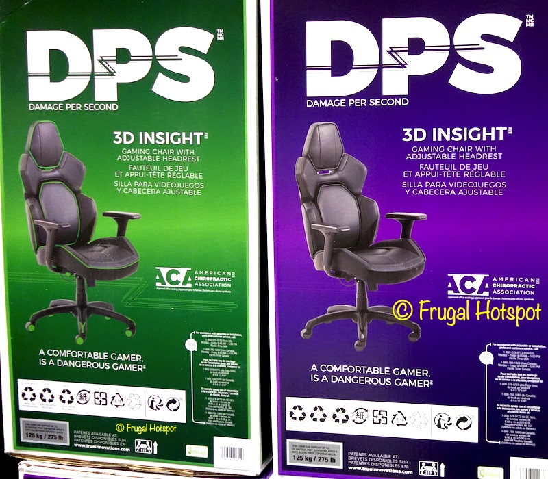 DPS 3D Insight Gaming Chair with Adjustable Headrest | Costco