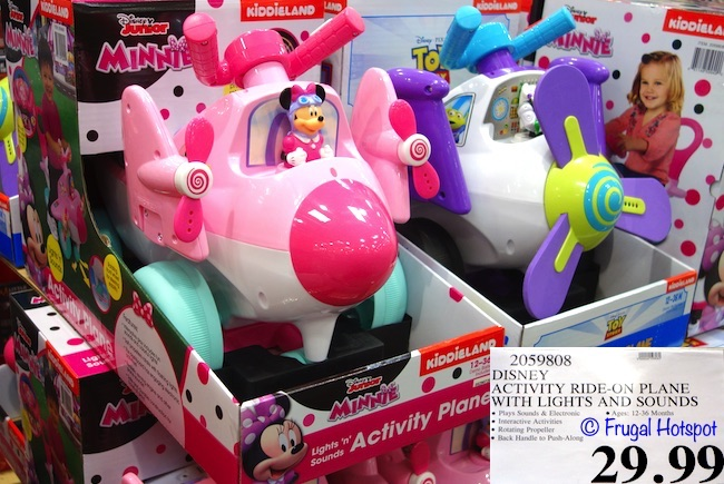 Disney Lights 'n Sounds Activity Ride-On Plane. Minnie or Toy Story. | Costco