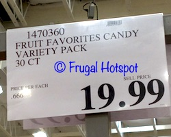 Fruit Favorites Full Size Candy   Costco Price