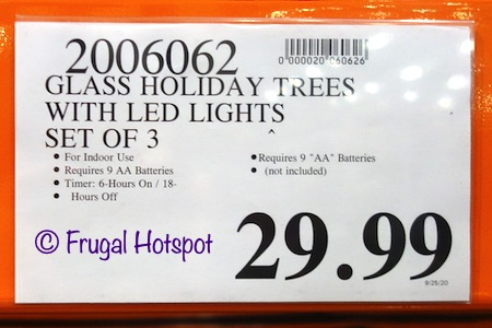 Glass Holiday Trees | Costco Price