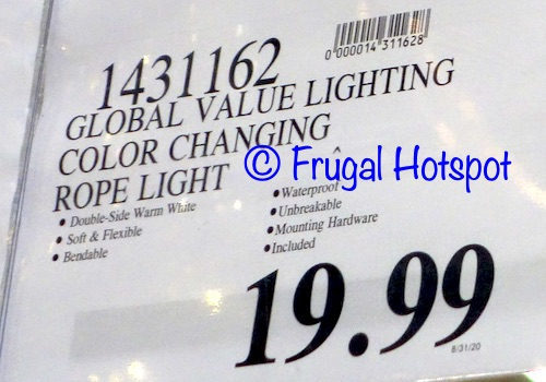 Global Value Lighting LED Color Changing Rope Light | Costco Price 2020