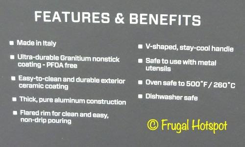Henckels Capri Notte Granitium 3-Pc Fry Pan Set Description | Costco