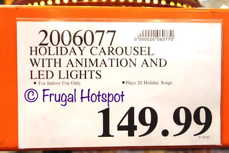 Holiday Carousel with Animation and LED Lights | Costco Price