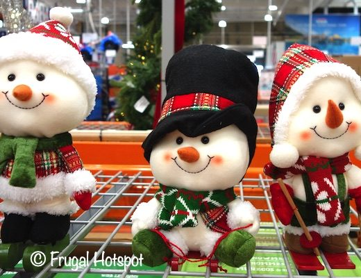 Holiday Snowmen Set of 3 | Costco Display