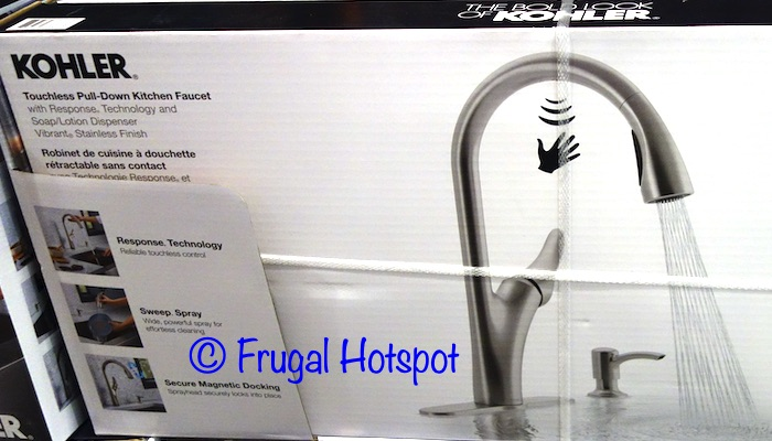 Kohler Transitional Touchless Pull-Down Kitchen Faucet | Costco