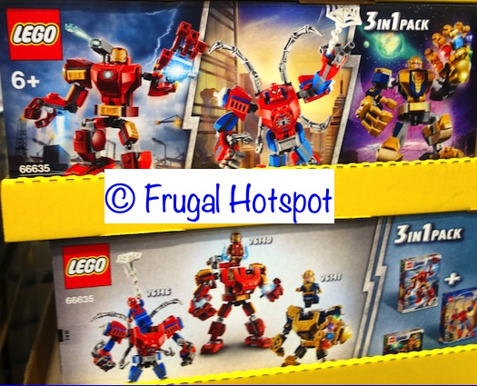 Lego Marvel Superheroes 3-Pack Set . Iron Man, Thanos, Spider Man. | Costco