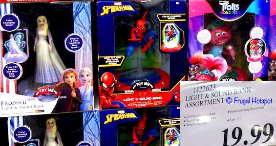 Light & Sound Bank - Disney Frozen II or Marvel Spiderman or Trolls World Tour | Costco 1422623