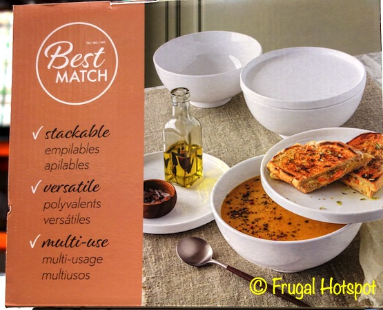 Overandback Best Match 6Pc Bowl Plate Lid Set | Costco
