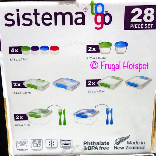Sistema To Go 28-Piece Food Storage Set Whats Included | Costco