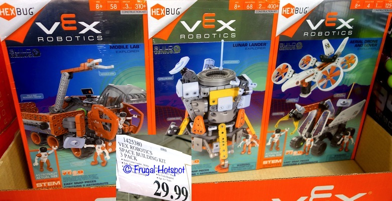 Vex Robotics Space Building Kit 3-Pack. Mobile Lab, Lunar Lander AND Aerial Drone + Rover. | Costco