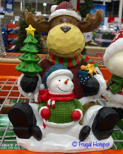 15 Moose and Snowman with LED lights | Costco Display