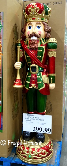 6' Nutcracker with Music and LED Lights | Costco Display
