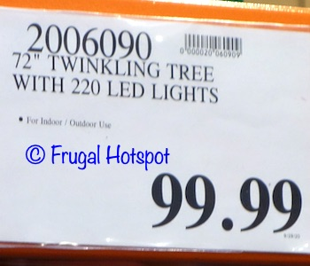 72 Holiday Tree with Lights | Costco Price