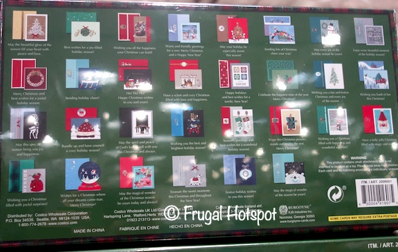 Burgoyne Hand Crafted Christmas Cards 30-count | Costco 2020