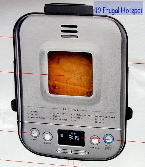 Cuisinart Compact Automatic Bread Maker Top View | Costco