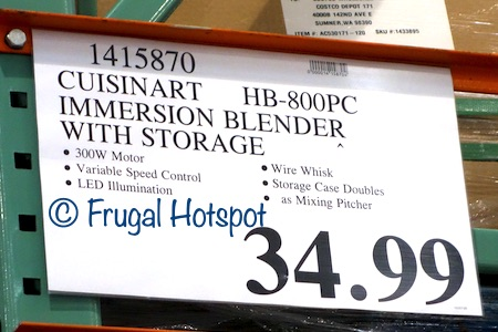 Cuisinart Smart Stick Variable Speed Hand Blender HB-800PC | Costco Price