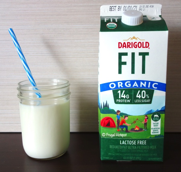 Darigold FIT Ultra-Filtered Lactose-Free Organic 2% Milk and Cup of Milk | Costco