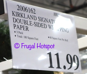 Kirkland Signature Double-Sided Wrapping Paper | Costco Price