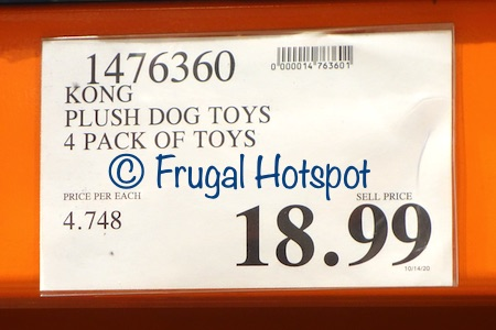 Kong Plush Dog Toys 4-Piece Play Pack | Costco Price