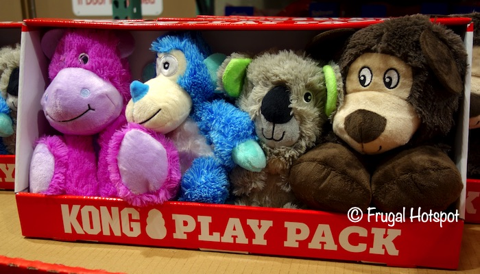 Kong Plush Dog Toys 4-Piece Play Pack | Costco