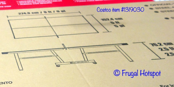 MD Sports Table Tennis Table Dimensions | Costco