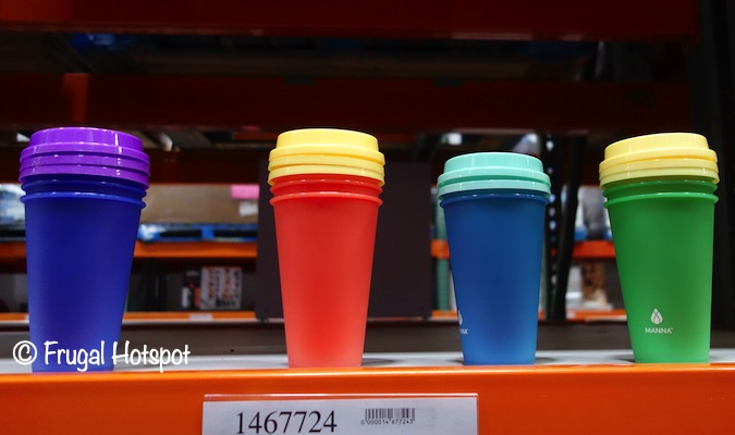 Manna Hot Color-Changing Reusable To Go Cups | Costco Display