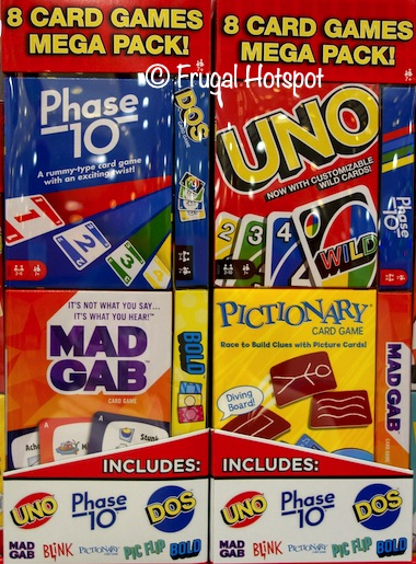 Matteel Mega Card Games, Uno, Phase 10, Mad Gab, BOLD, Blink, DOS, Pictionary, Pic Flip | Costco