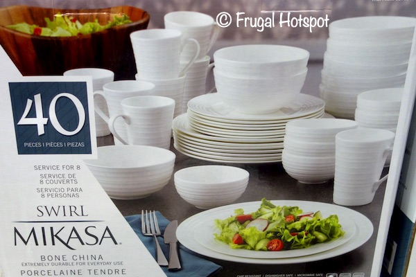 Mikasa Swirl Bone China 40-Piece Set | Costco