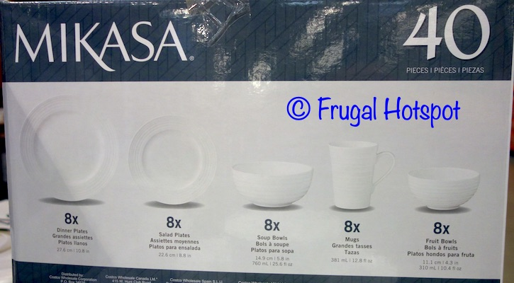 Mikasa Swirl Bone China 40-Piece Set What Is Included | Costco