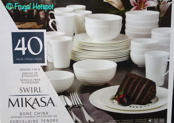 Mikasa Swirl Bone China 40-Piece Set at Costco