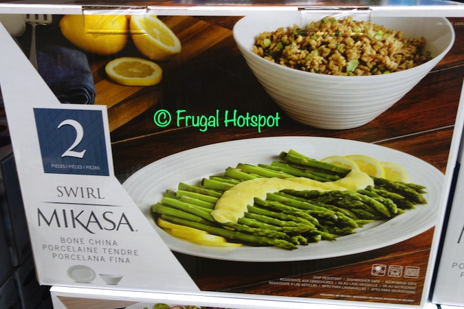 Mikasa Swirl Platter and Serving Bowl Costco