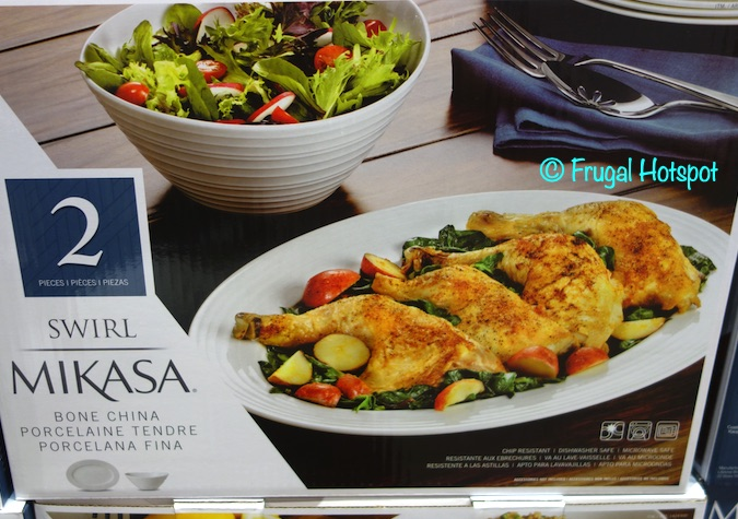 Mikasa Swirl Platter and Serving Bowl | Costco
