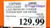 Ninja Foodi 6.5 Quart Pressure Cooker | Costco Sale Price