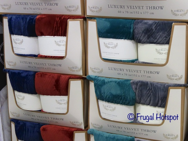Amari Luxury Velvet Throw | Costco