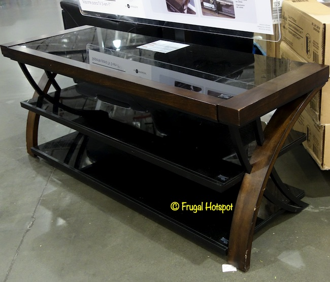 Bayside Furnishings Burkedale 3-in-1 TV Stand Angled | Costco Display