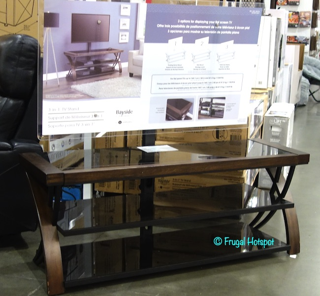 Bayside Furnishings Burkedale 3-in-1 TV Stand | Costco Display