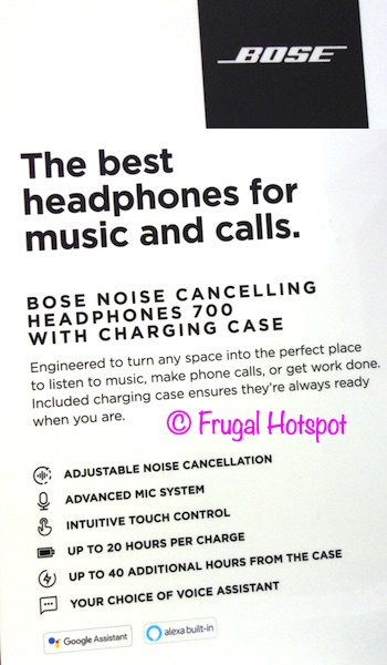 Bose Noise Cancelling 700 Wireless Headphones Details | Costco