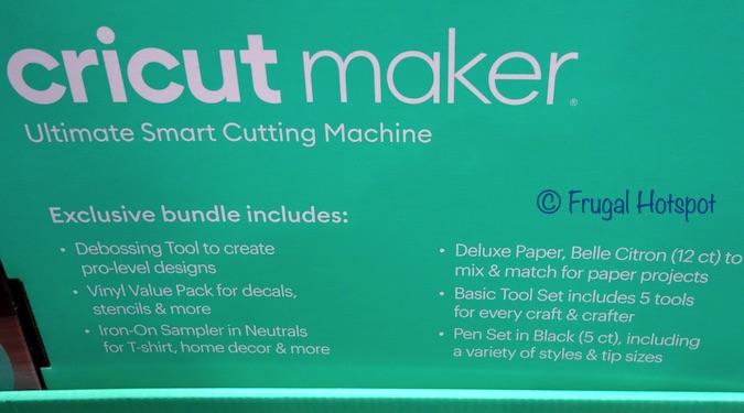 Cricut Maker Costco Bundle list