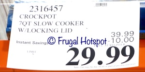 Crockpot Cook & Carry 7-Quart Slow Cooker | Costco Sale Price