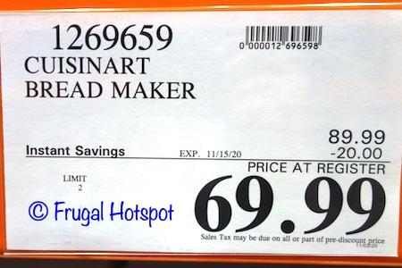 Cuisinart Compact Automatic Bread Maker | Costco Sale Price