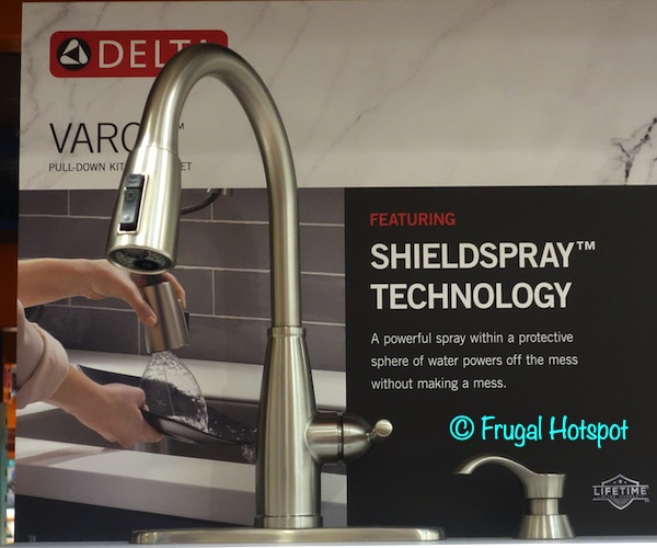 Delta Varos Pulldown Kitchen Faucet | Costco Display