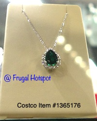 Emerald Diamond Teardrop Pendant Costco Item 1365176