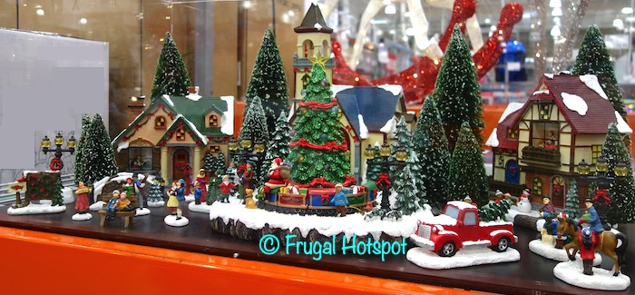 Holiday Village with Lights 30pc | Costco Display