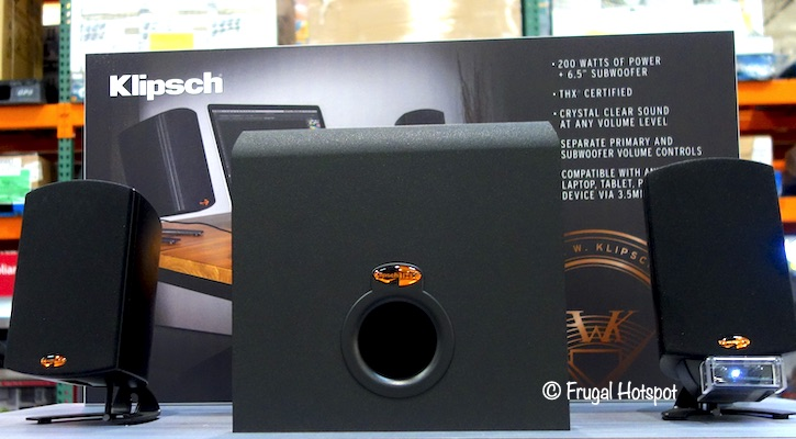 Klipsch ProMedia 2.1 THX Computer Speakers | Costco Display