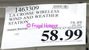 La Crosse Wind Weather Station | Costco Sale Price