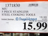 Miu Stainless Steel Kitchen Tools | Costco Sale Price