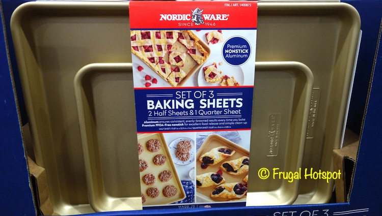Nordic Ware Gold Baking Sheets | Costco Display