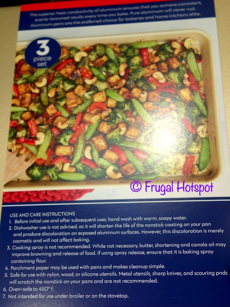 Nordic Ware Gold Baking Sheets Instructions | Costco